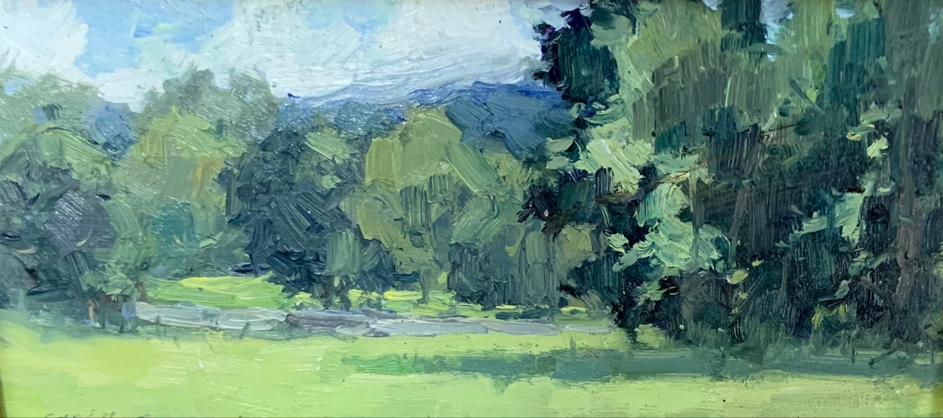 Hill and Dale, Elise Phillips, oil 4x8