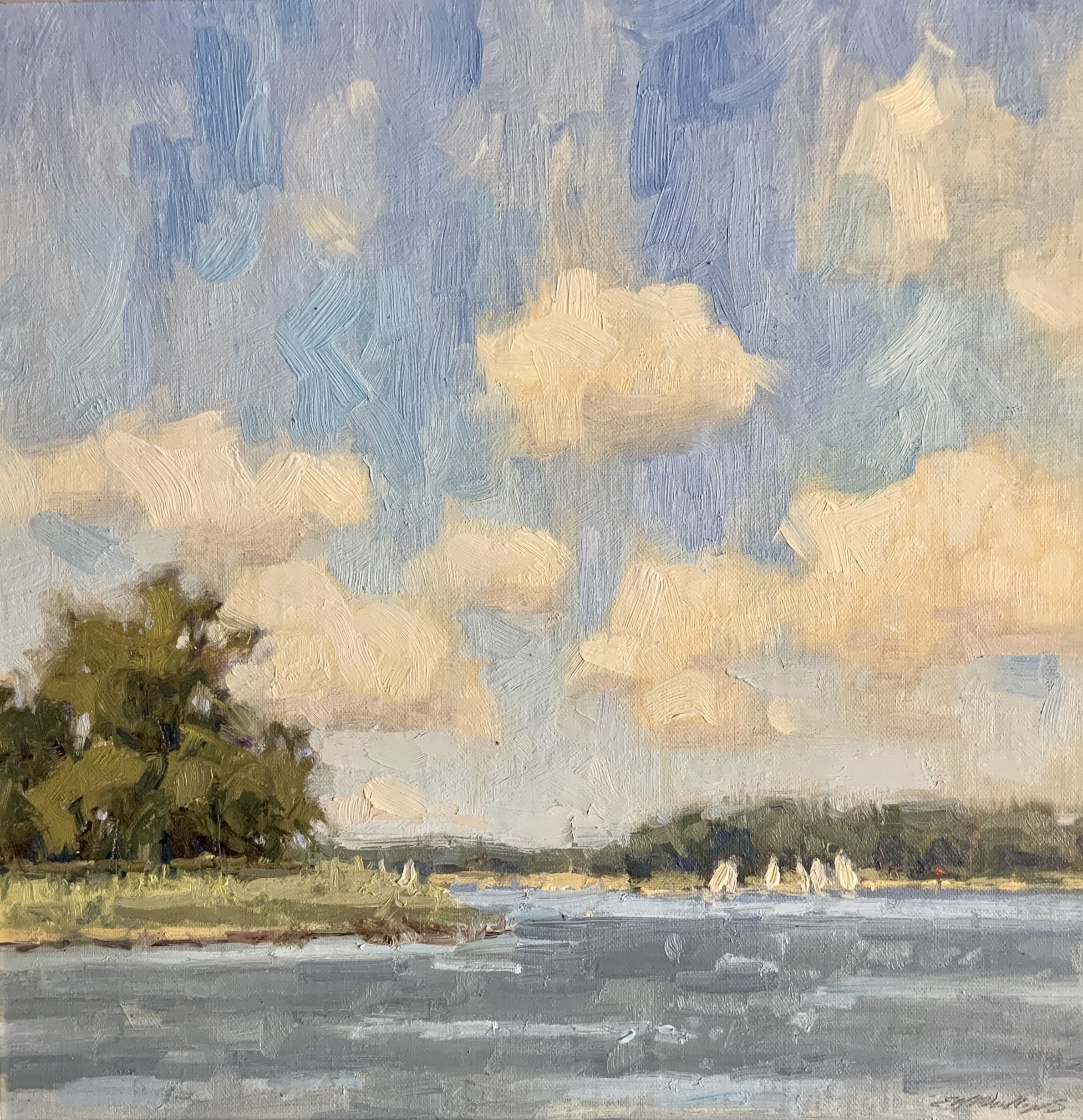 Lovely day, oil 12x12 $1600
