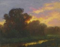Sunset-Sills, oil 8x10 $1250