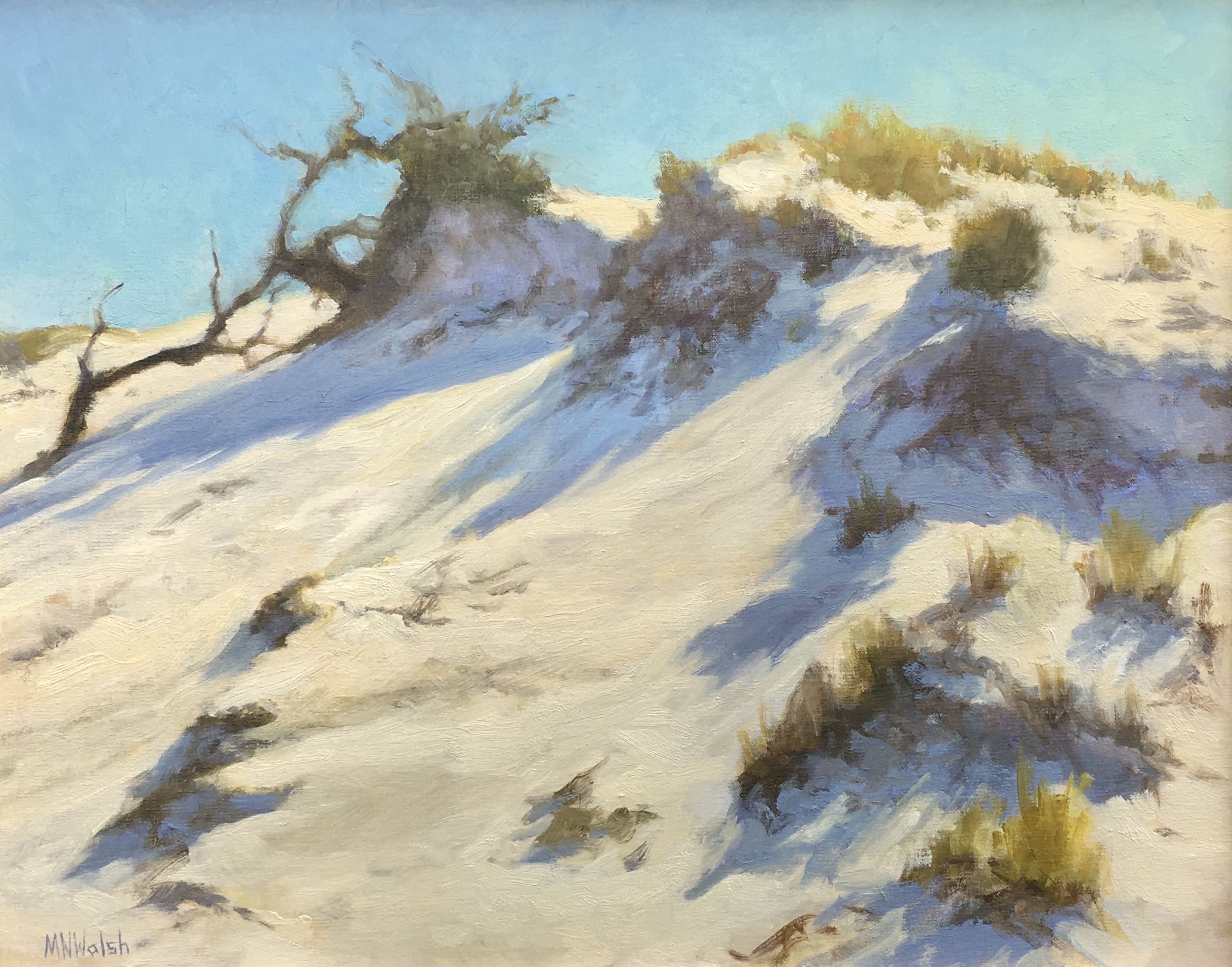 Dune,Walsh oil 16x20 $1800