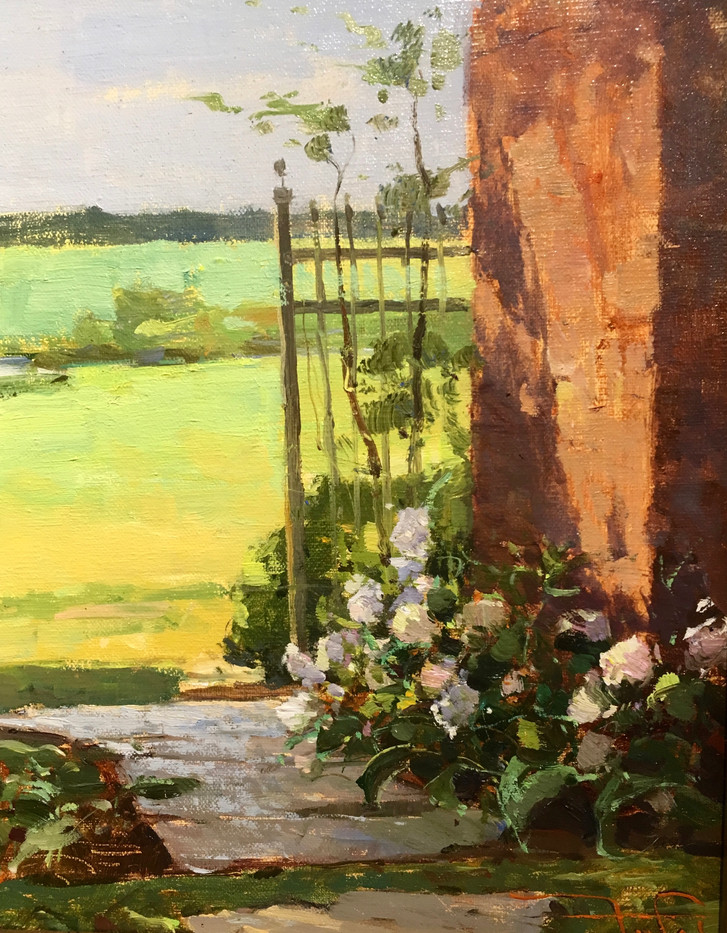 Beyond the Gate by Zufar Bikbov, oil 8x10 $975