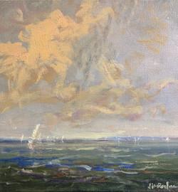 Warm Day, Chesapeake, oil $1400 12x12