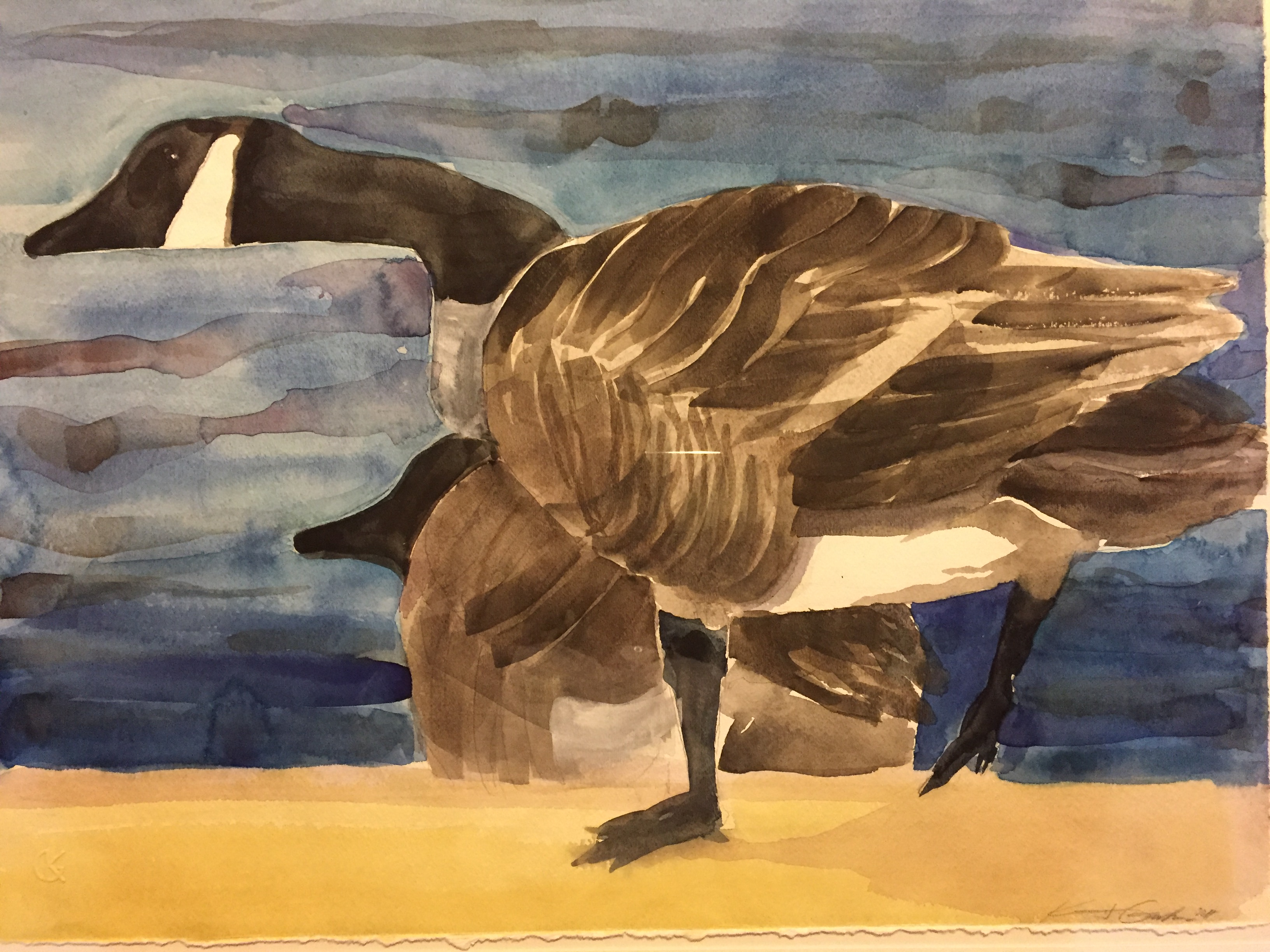 Two-Garber, watercolor $1425