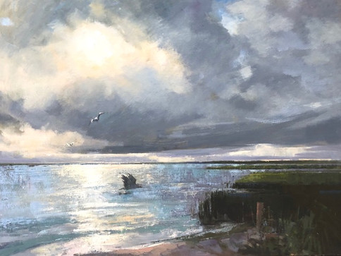 Skimming the Shallows-Tankersley, oil 30x40 $7500