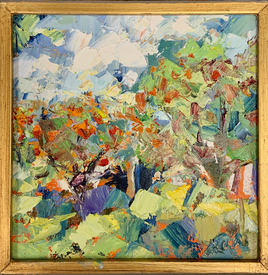 Apple Orchard by Cynthia Rosen, oil 6x6 $575