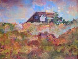 House in Truro_Fish, pastel $2600