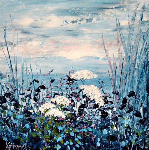 Not A Soul Around by Hanna MacNaughtan, acrylic 12x12 $435