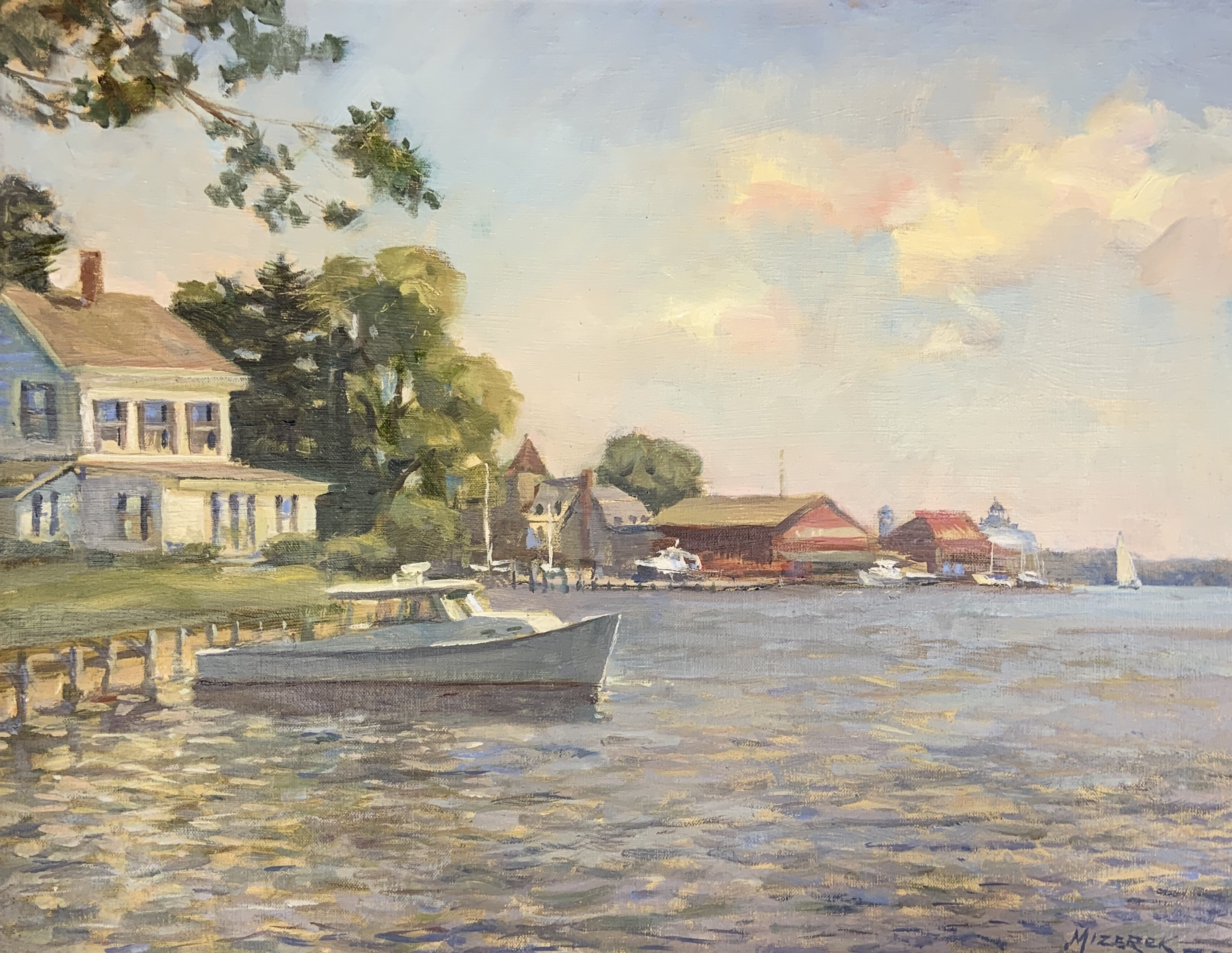 Harbor View St. Michaels-Mizerek, oil 14x18 $2700