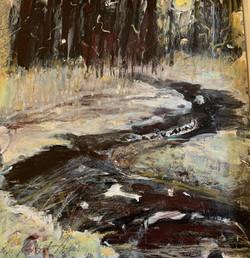 Midnight Creek, acrylic 12x12 $500