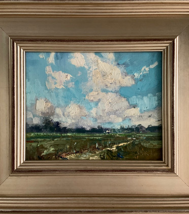 Summer Skies by Jill Basham, oil 8x10 $950
