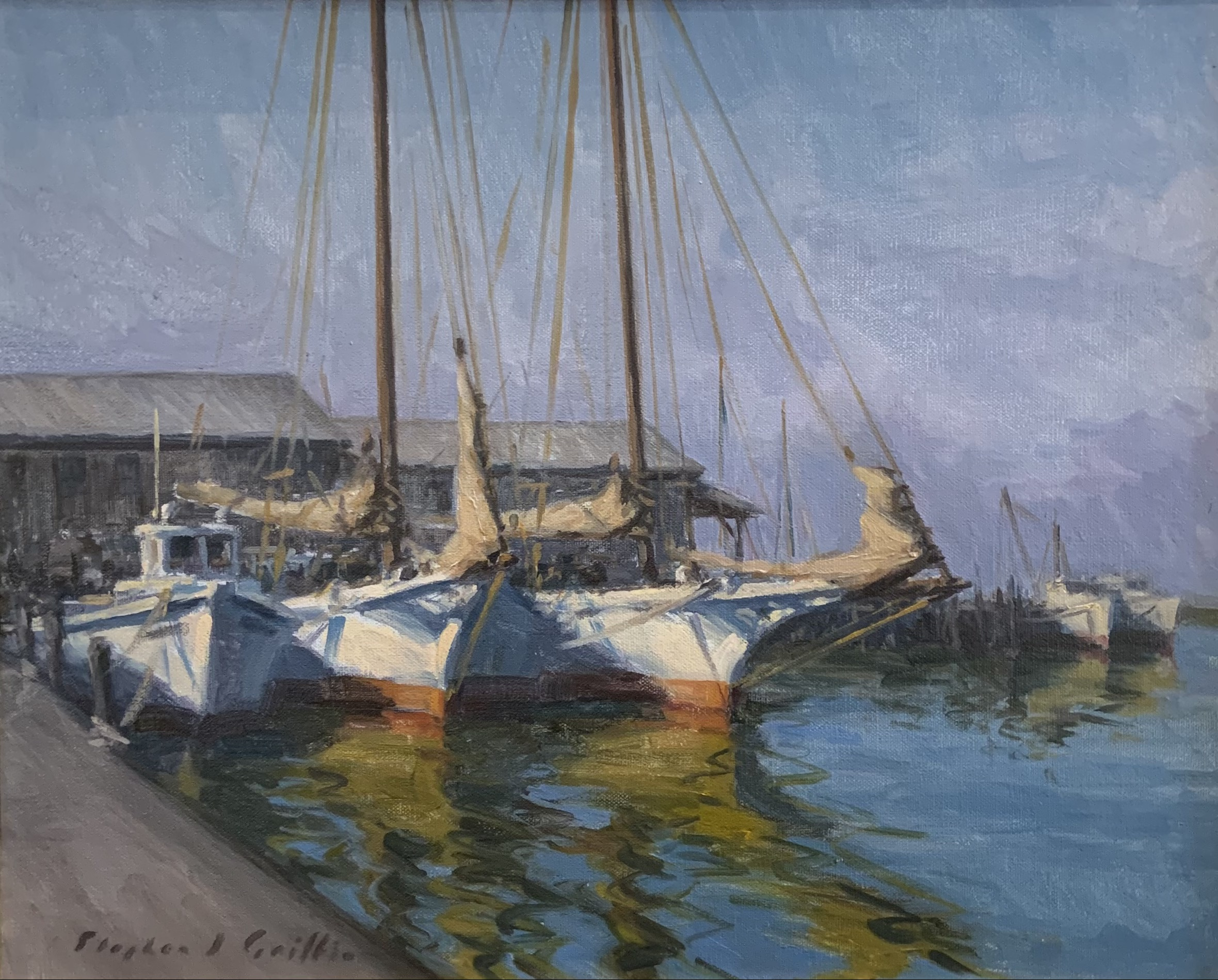 Soft Lit Harbor-Griffin, oil 16x20 $1800