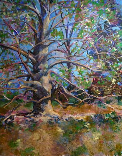 Beech Tree-Fish, pastel 32x40 $2600
