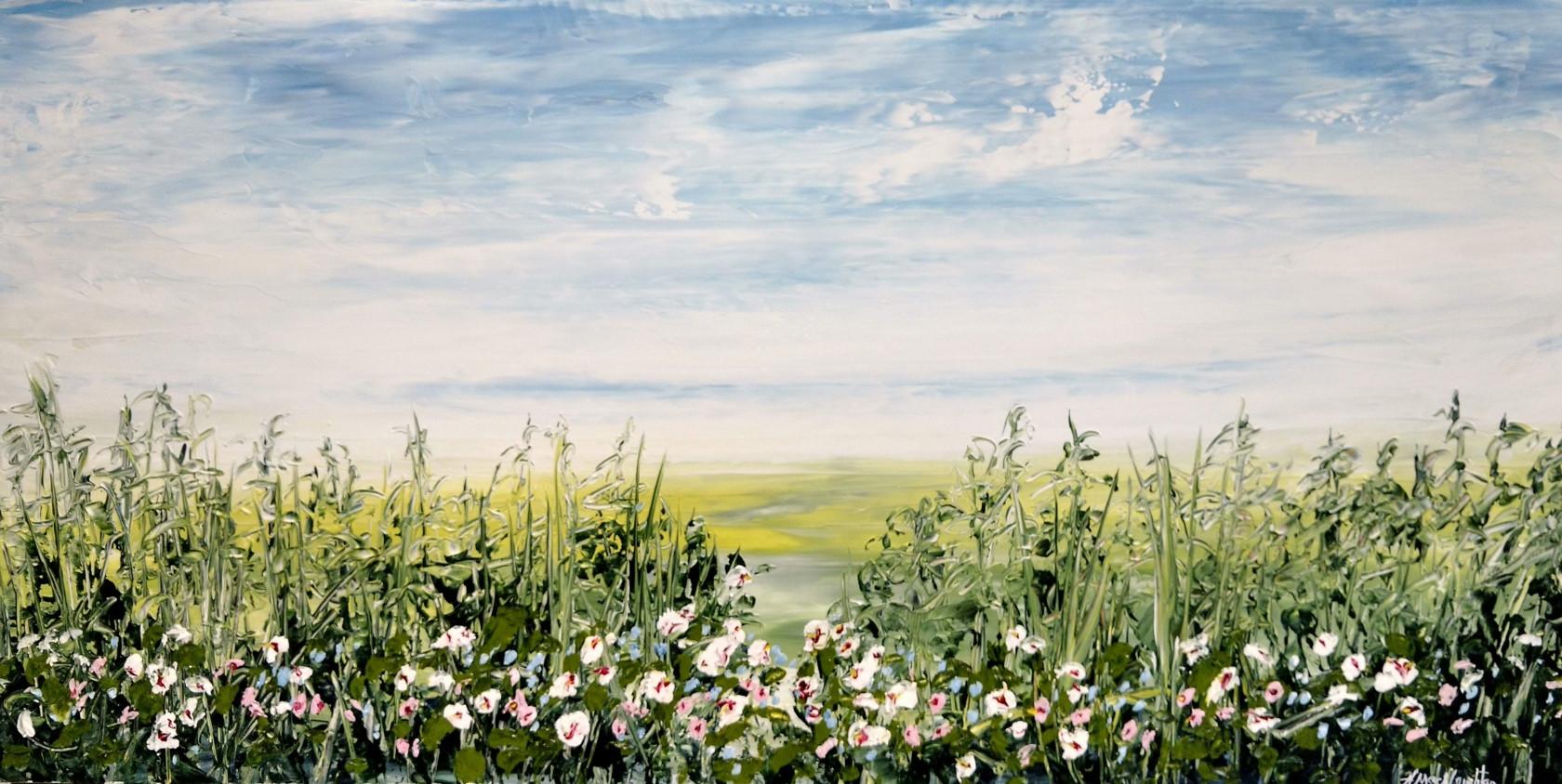 Hush On The Marsh, acrylic 15x30 $975
