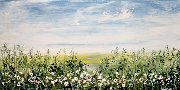 Hush On The Marsh, acrylic 15x30 $800