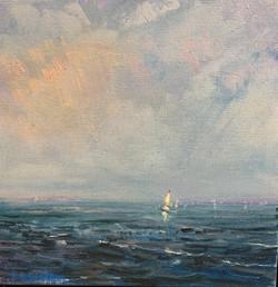 Summer Sail,oil  $1400 12x12