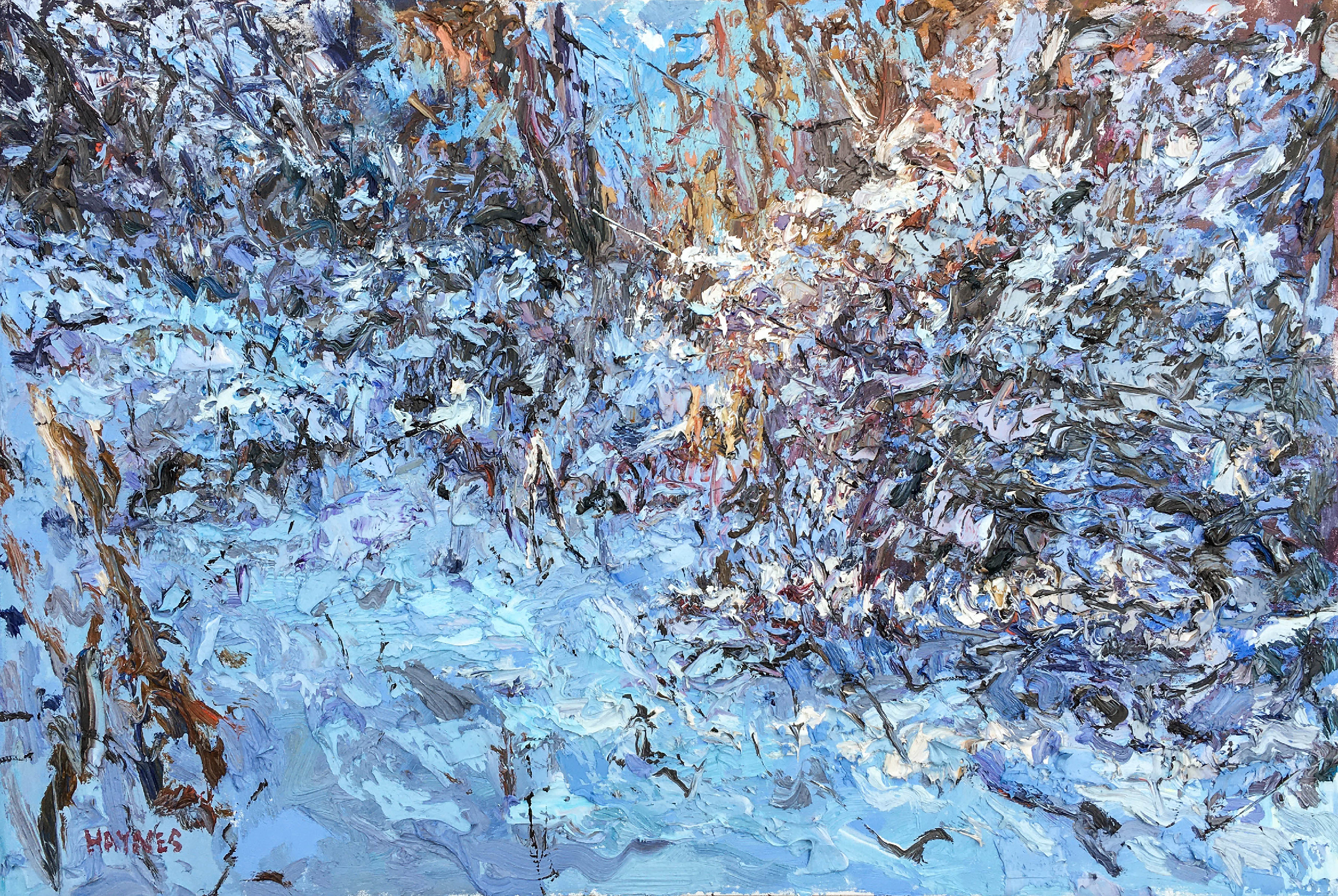 Winter Landscape, oil 24x36 $2500