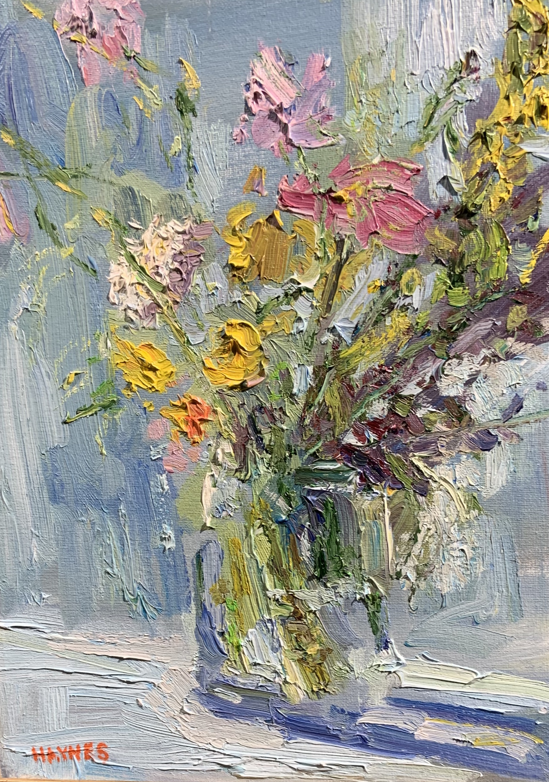 Still Life with Wildflowers-Haynes, oil 12x16 $950