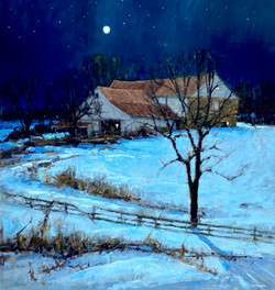 By the Light of the Moon, oil 33x35 $7500