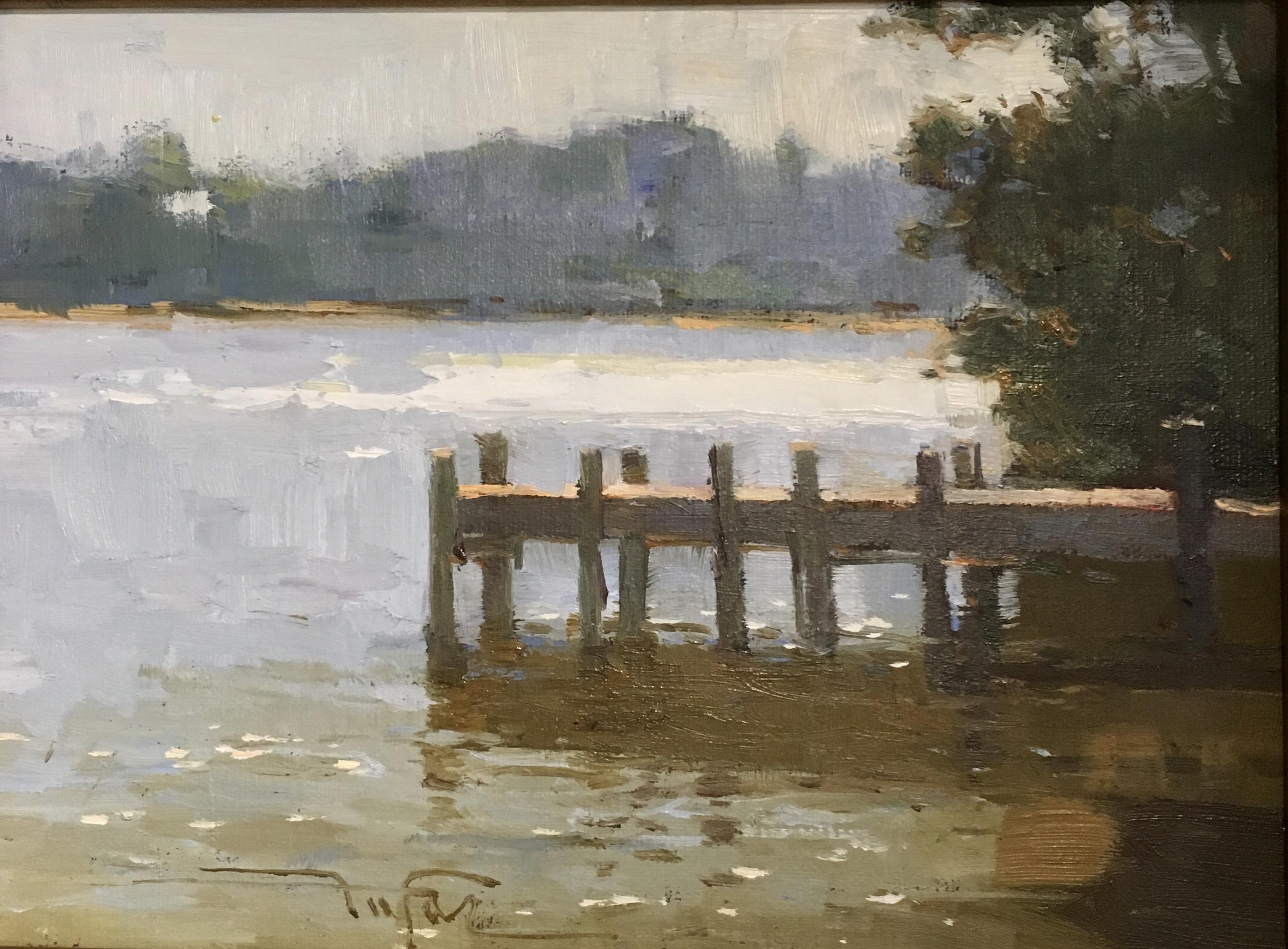 Pine at Water-Bikbov, oil $600 6x8