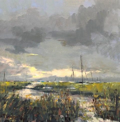 After the Storm-Tankersley, oil 16x16 $2200