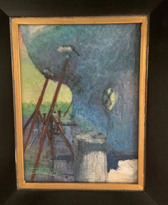 Hull Study by Stewart White, egg tempera 6x8 $450