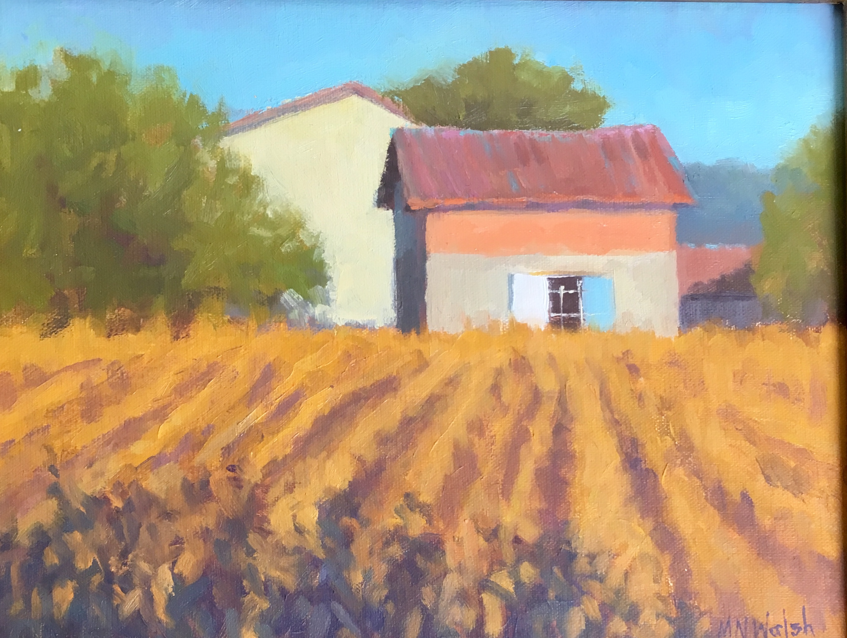 Field of Gold, France-Walsh, oil 8x10 $650