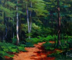 Forest Path-Flood, oil10x12 $1050