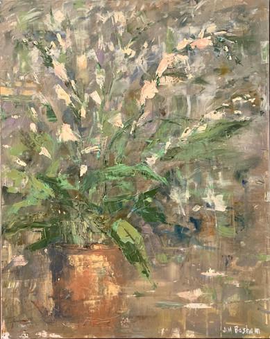Floral Ballet by Jill Basham, oil 30x24 $4300