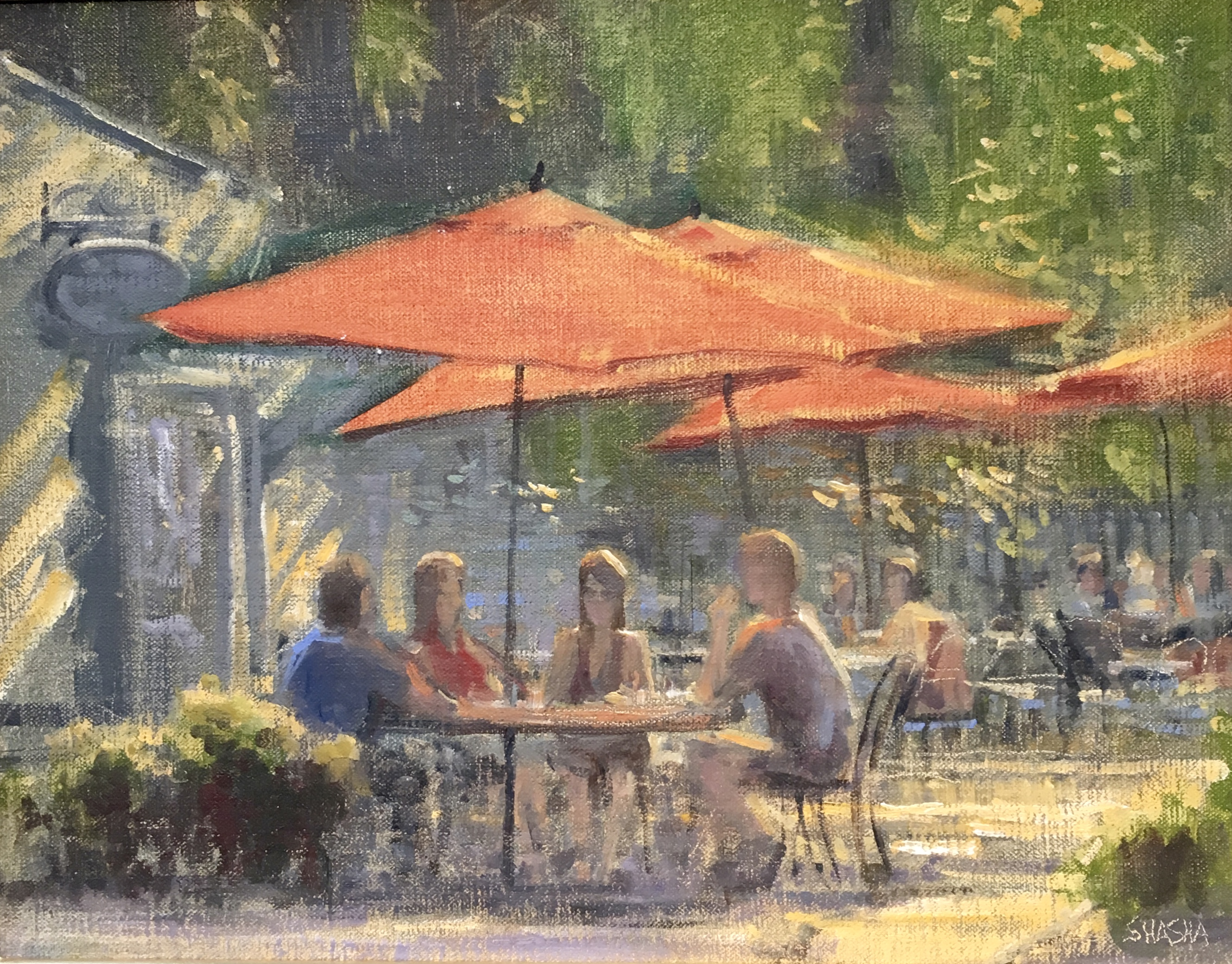 Patio Lunch-Shasha, oil 11x14 $1800