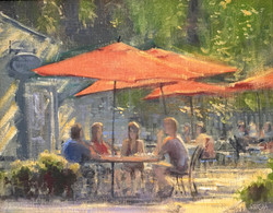 Patio Lunch-Shasha, oil 11x14 $1800 SOLD