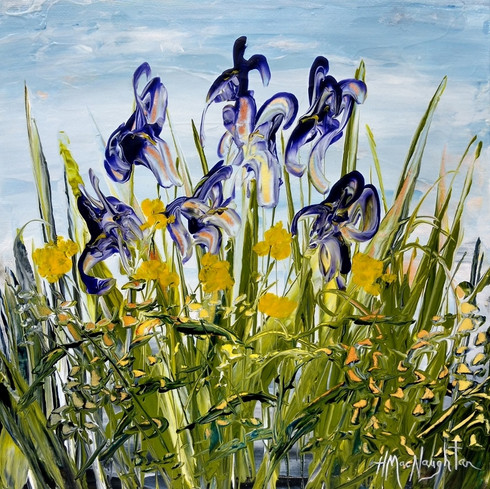 Overlooked Lovelies by Hanna MacNaughtan, acrylic 10x10 $325