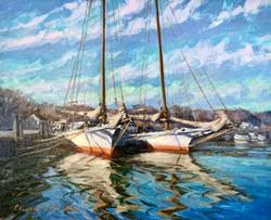 Dogwood Harbor Fall-Griffin, oil 16x20 $1800