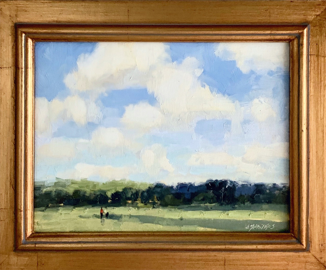 Quiet Time by Elise Phillips, oil 6x8 $675