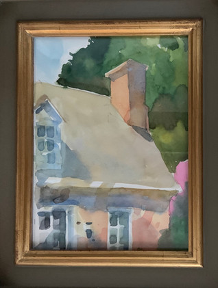 The Captain's House by David Csont, watercolor 6x8 $375