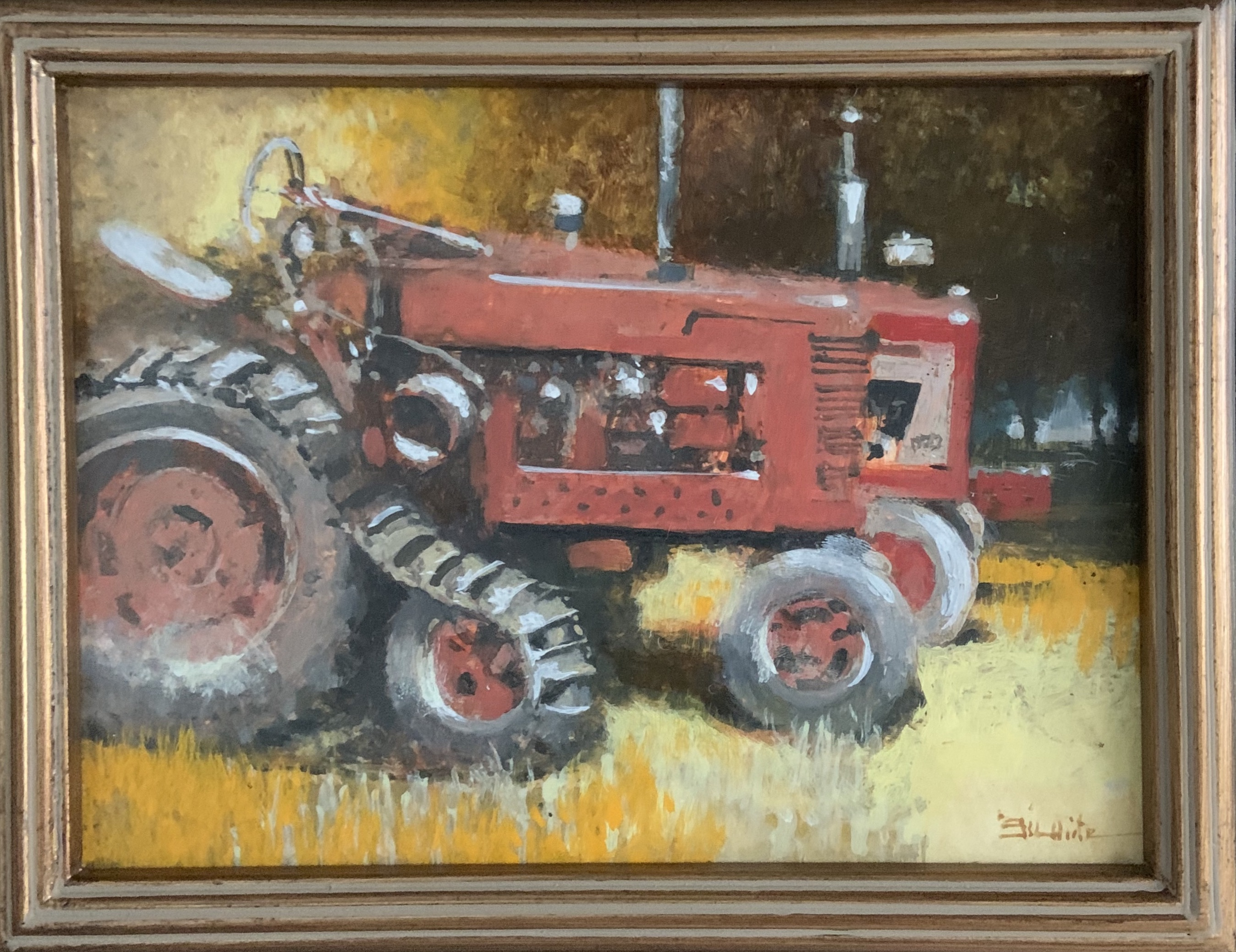 Traction-S. White, egg tempera 6x8 $450
