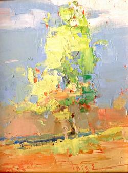 Sunny Green, oil $800 7x9