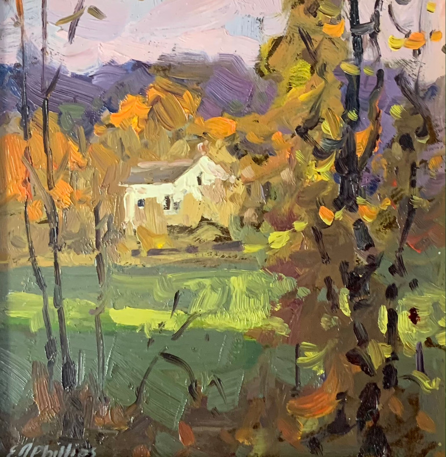 The Homestead, Elise Phillips, oil 6x6 $450