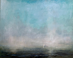 Sailing in the Clouds, oil 24x30 $4300 Sold