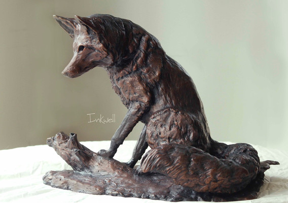 Bright eyed Fox-Waterman, bronze #3/10 $4250