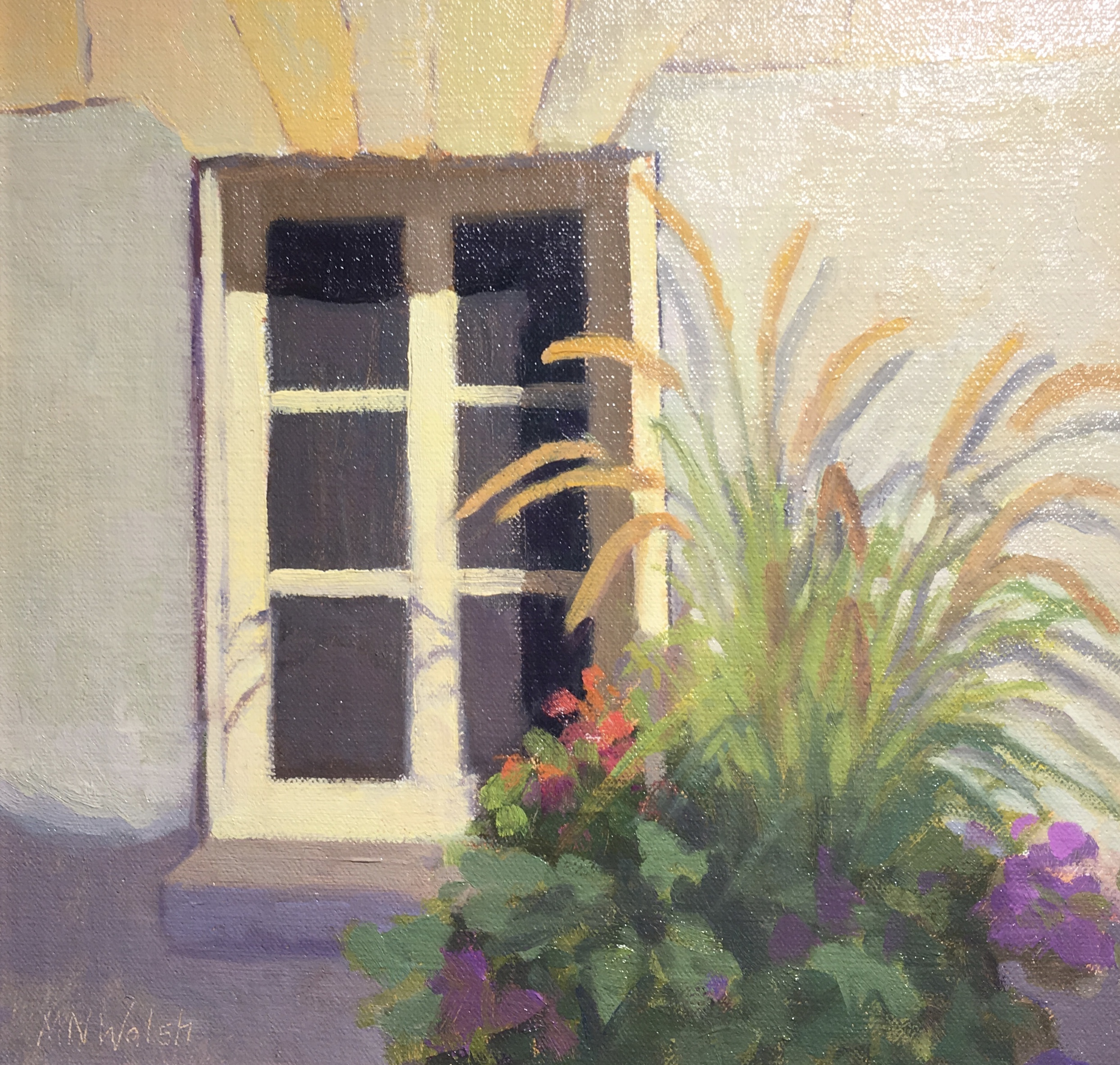 Village Window, France-Walsh, oil 9x12 $800