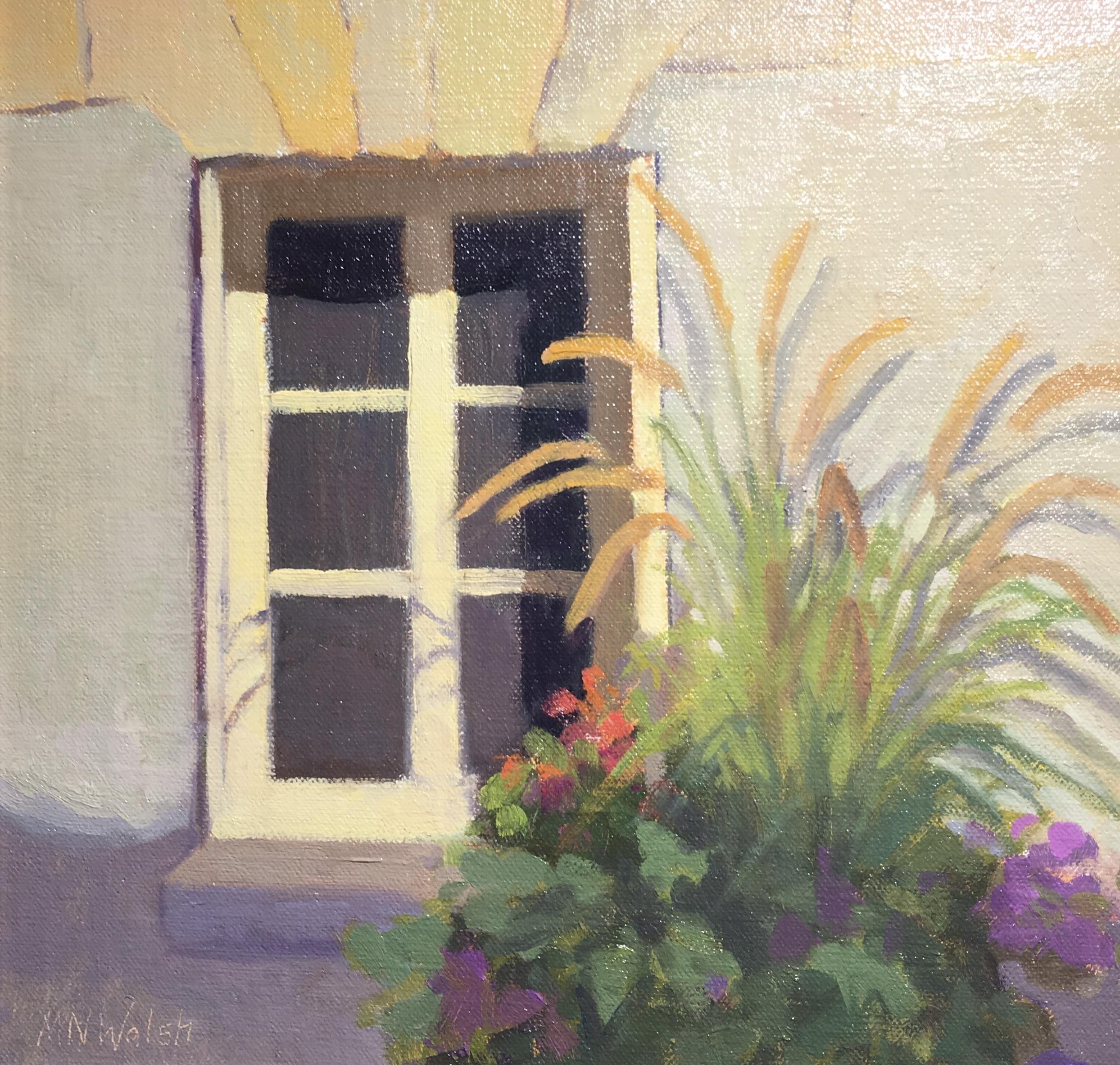 Village Window, France-Walsh, oil 9x12 $800