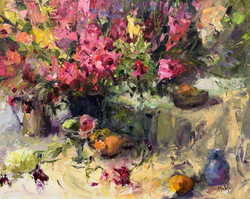Flowers For a Gala, oil 16x20 $2200