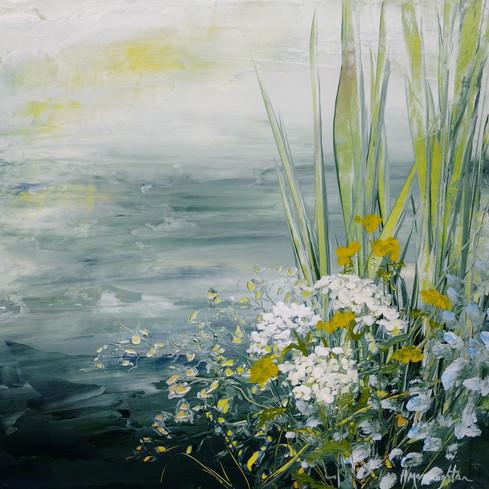 Morning Shoreline, acrylic 12x12 $435