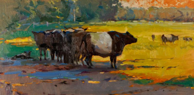 In the Shade-Babak, oil 12x24 $2350