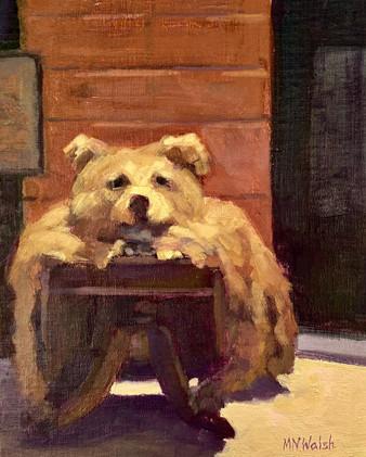 Bear Skin Rug, Walsh, oil 10x8 $600