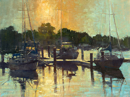 Fire Water, Jack's Point-Saunders, oil 18x24 $2800