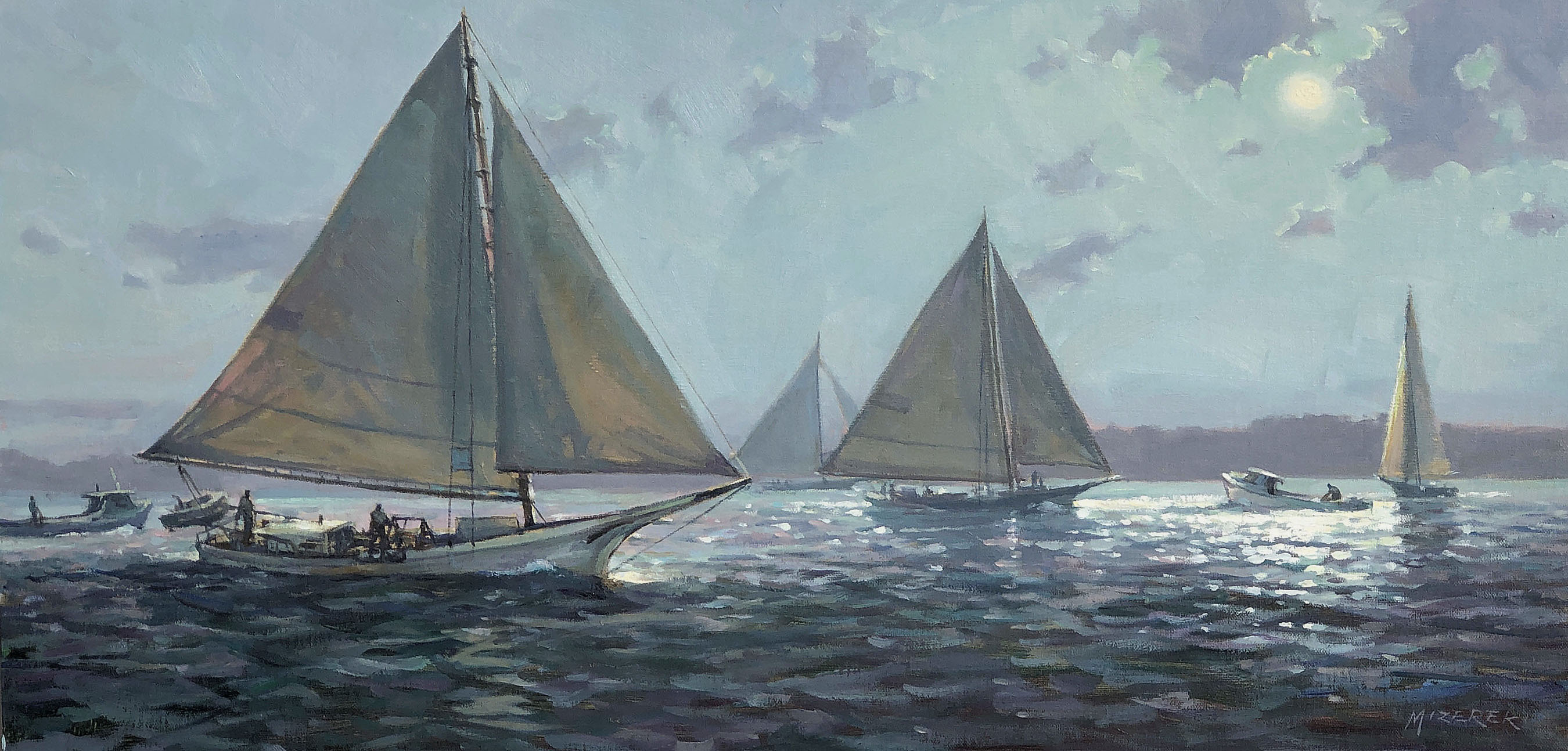 Day's End On The Chesapeake-Mizerek, oil 12x24 $2700
