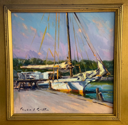 The Thomas Clyde, Tilghman by Stephen Griffin, oil 12x12 $900