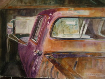 Star Truck, watercolor 27x29 $1950