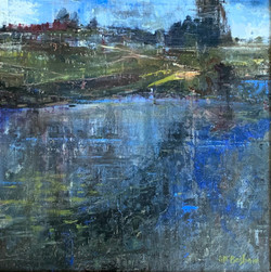 The Pond, oil 18x18 $3200